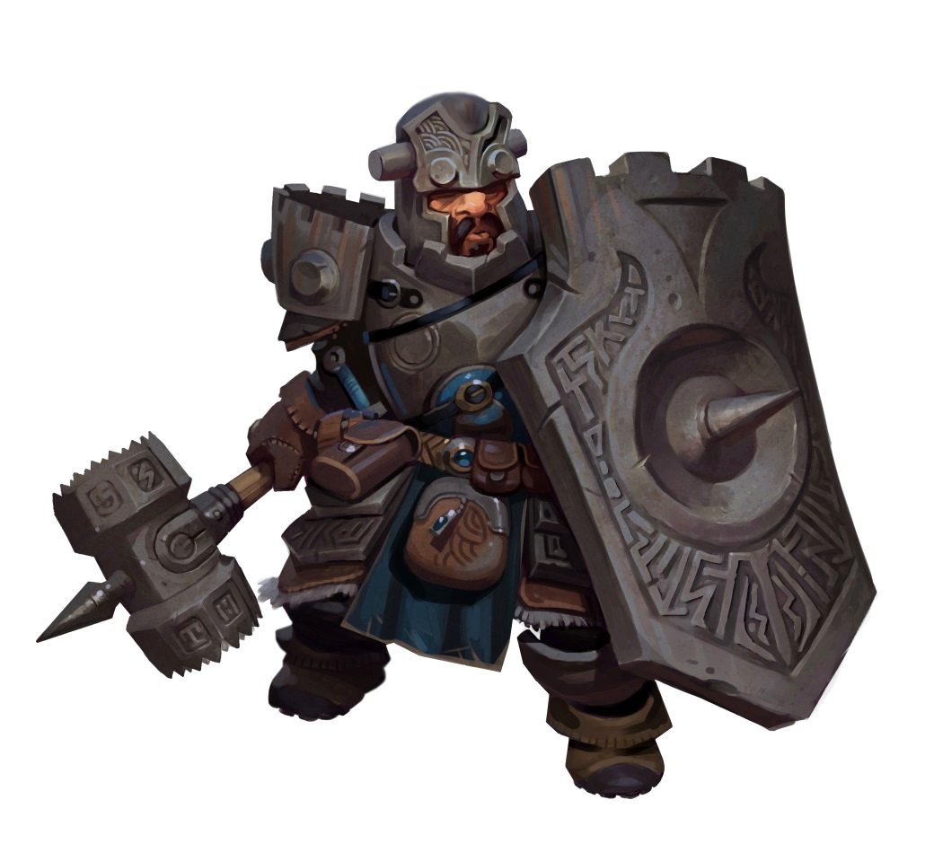 Male Dwarf Stone Defender Paladin or Fighter - Pathfinder PFRPG DND D&D 3.5 5E 5th ed d20 ...
