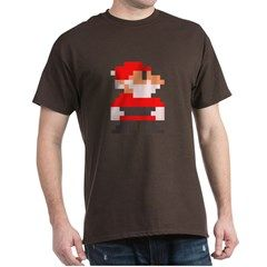 santa bros. dark mens t-shirt > $22.99US > babybitbyte (cafepress.com/babybitbyte) #nerd #geek #babybitbyte #cafepress #8bit #pixelart #pixel #pxl #nes #famicom #mario #mariobros #christmas #xmas #santa #santaclaus #hohoho #gamer #gamermom #gamerdad #retrogamer