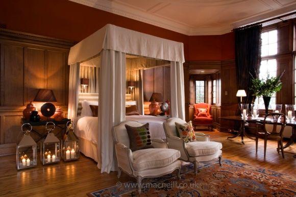 Castle restoration and interior design Bedroom at Craigcrook