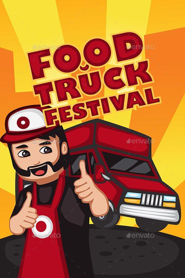 Food Truck Festival Poster Food Truck Festival Festival Posters