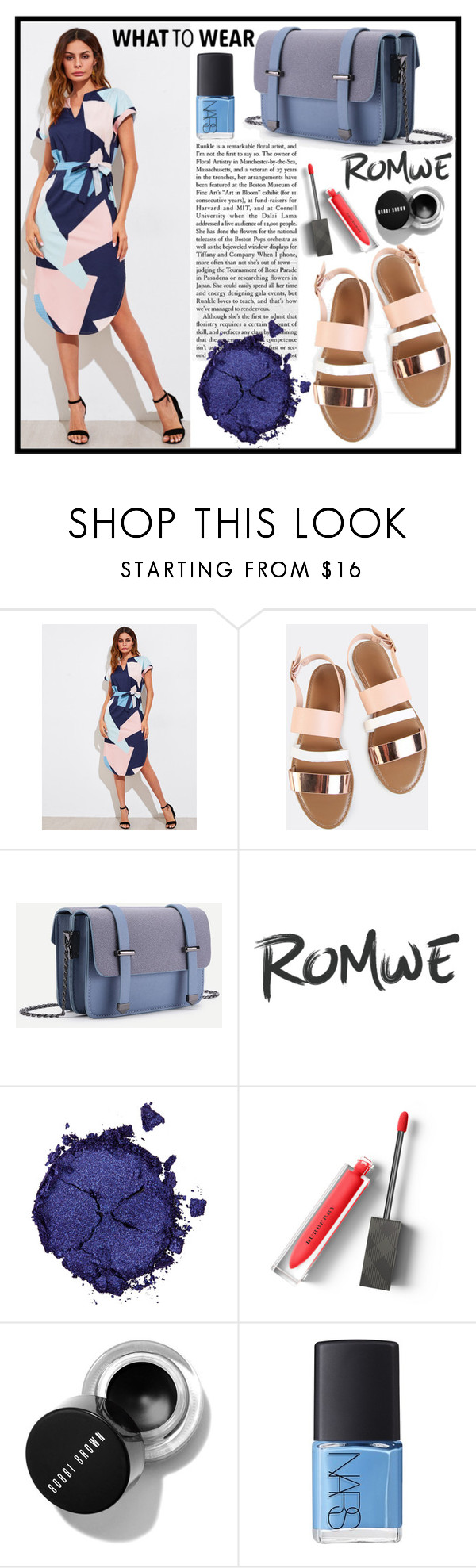 """""""Romwe 8./3"""" by b-necka ❤ liked on Polyvore featuring Pat McGrath, Burberry, NARS Cosmetics and romwe"""