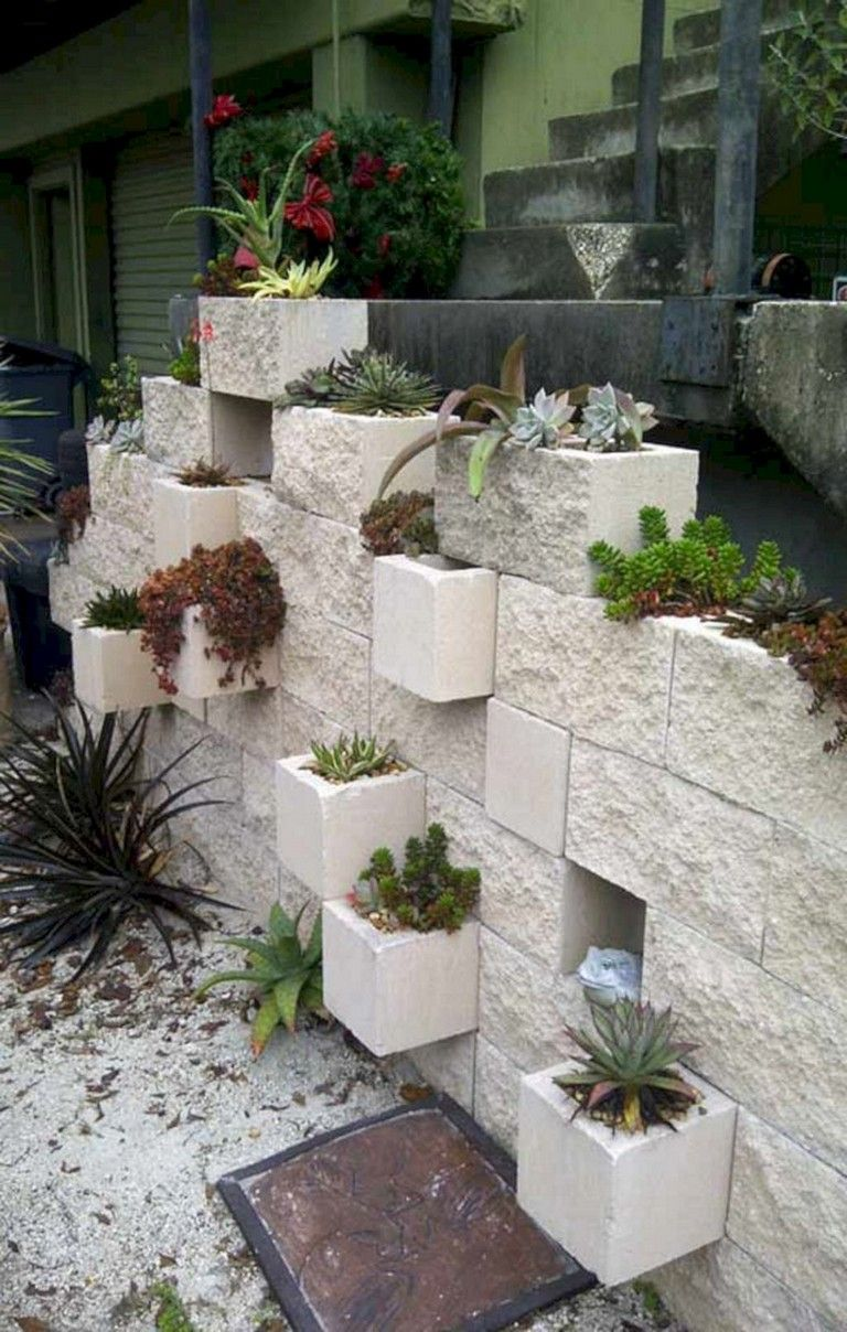 28+ Brilliant And Beautiful Cinder Block Ideas For Your ... on Backyard Cinder Block Wall Ideas id=86440
