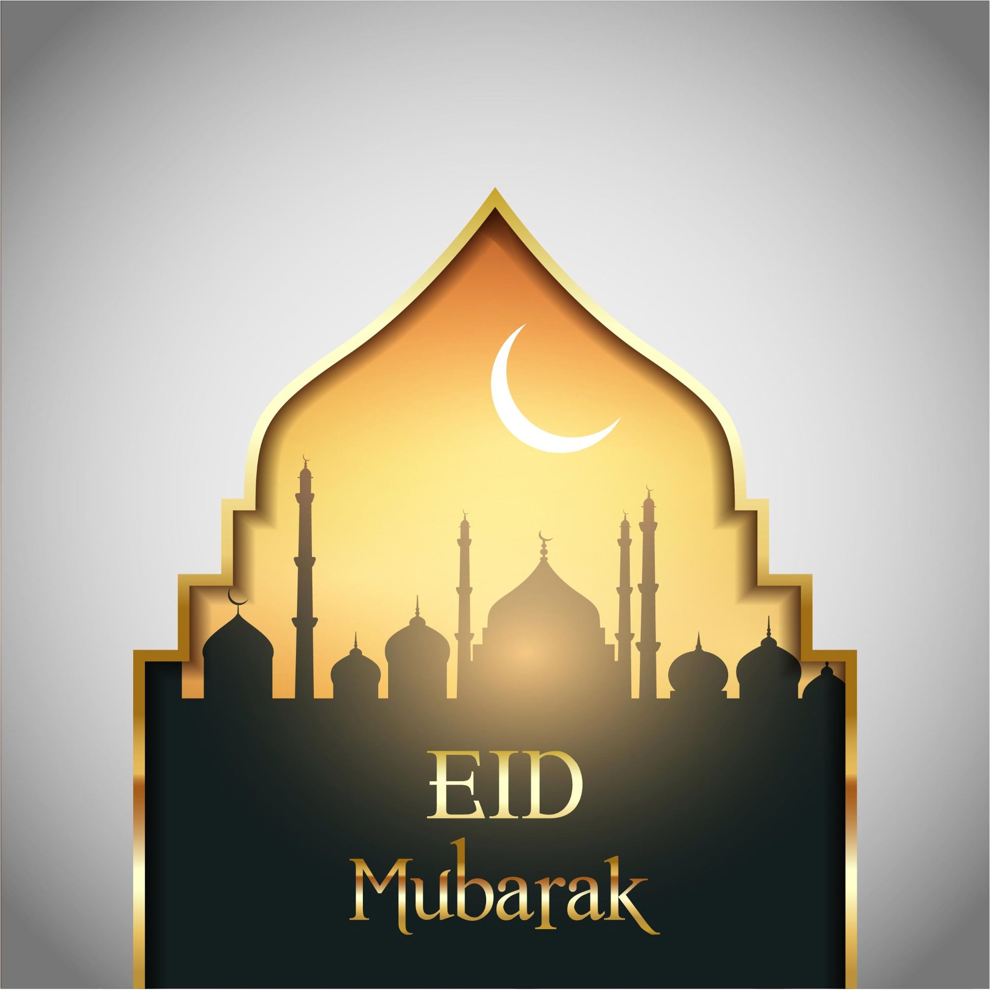 Best 200 Free Eid Mubarak Vector Greeting Card Background Eid