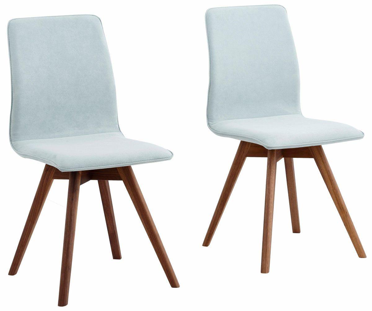 ANDAS Stühle »Rania« Blau, 2er Set, Luxus Microfaser, Beine Nussbaum,  FSC® Zertifiziert Jetzt Bestellen Unter: Https://moebel.ladendirekt.de/kueche Und   ...