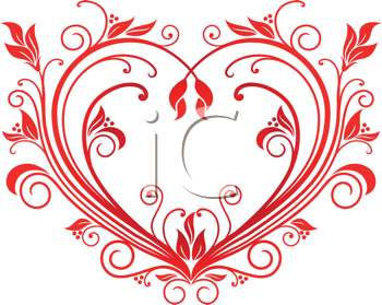 Heart fancy. Royalty free clipart image