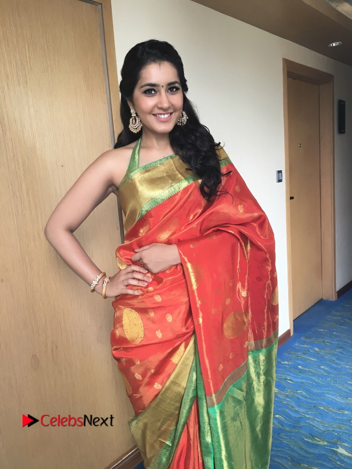 Pin by singh khalsa on style splendour in sarees pinterest raashi khanna latest images in saree with sleeveless blouse looking sexy the hot images of raasi khanna in red saree checkout here spicy photos altavistaventures Gallery