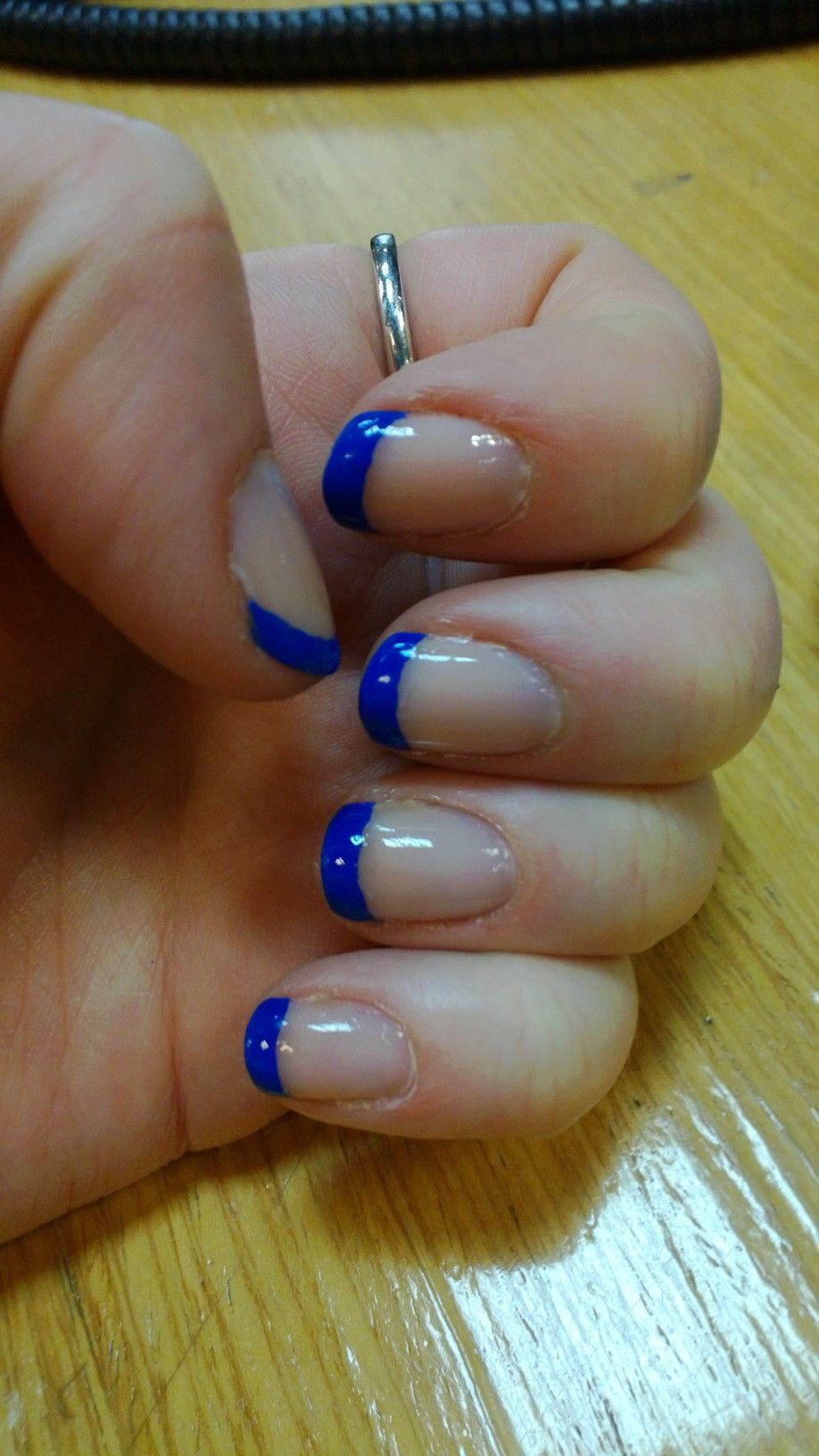 Royal blue tips to match my Bridesmaid dress for the ...