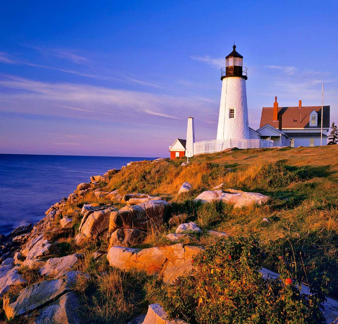 Pemaquid Point Lighthouse In Bristol Maine Sat On The