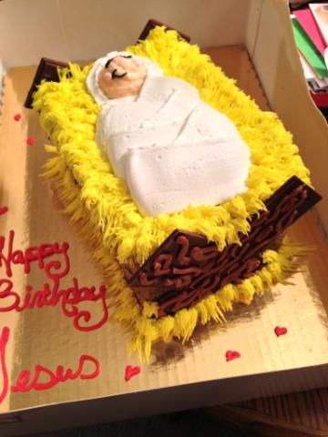 happy birthday Jesus cake I made for a Christmas party at my church
