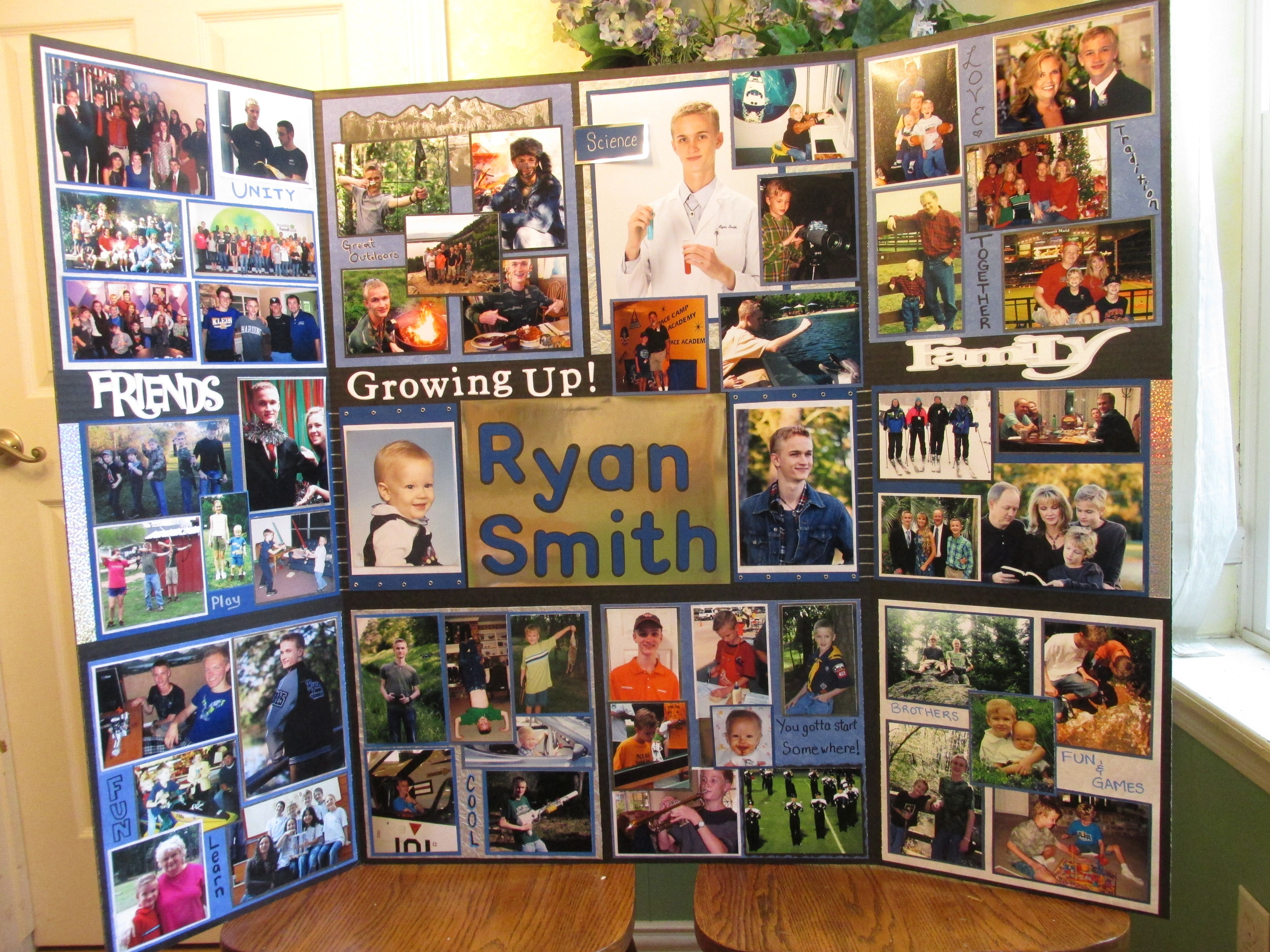 graduation tri fold board senior pic ideas pinterest