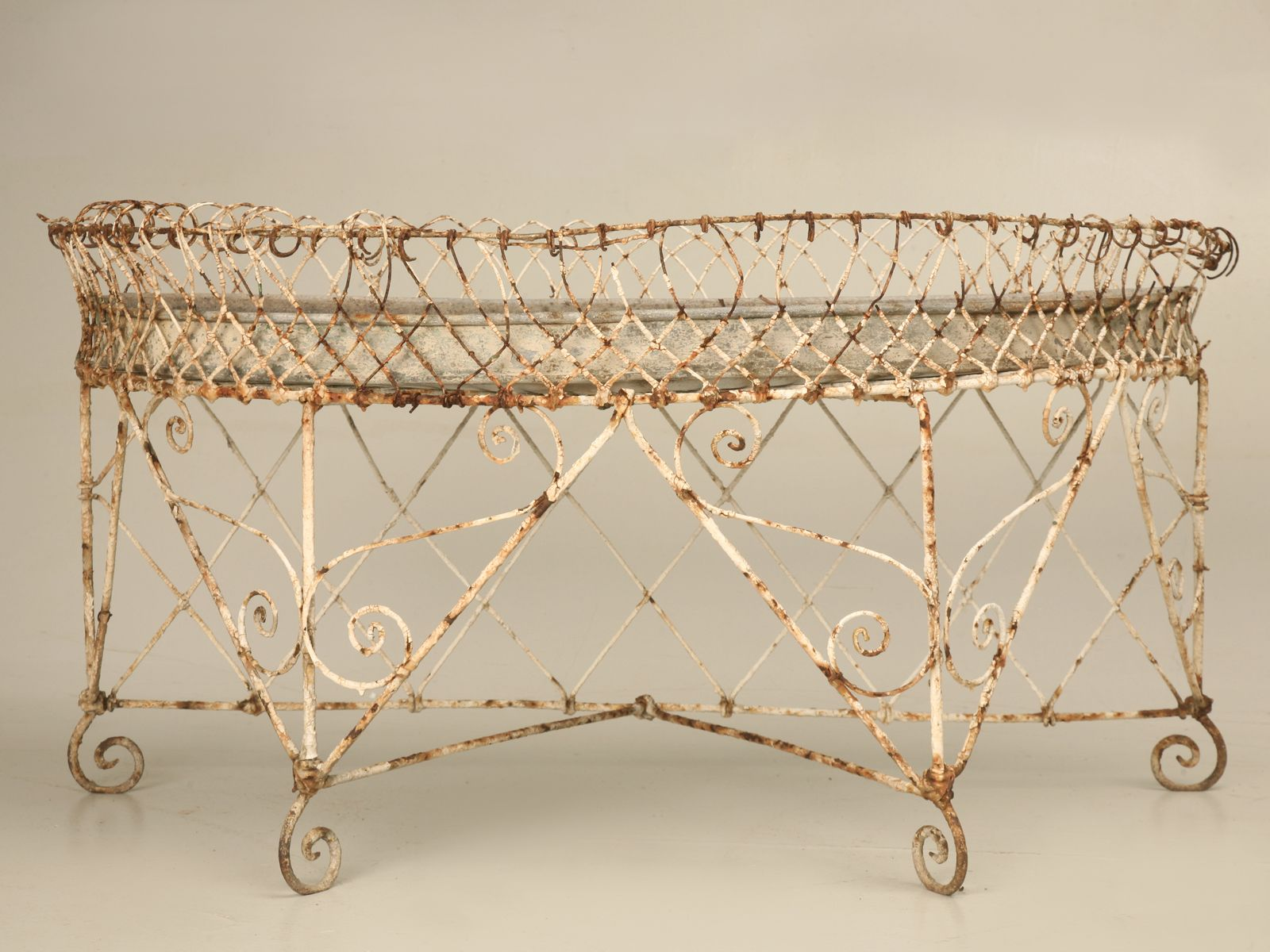 Vintage French Metal Wire Planter I Would Love This Piece In My