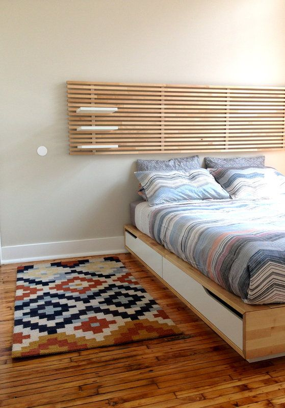 Ikea Mandal Bed Frame Headboard Mattress Queen Bed