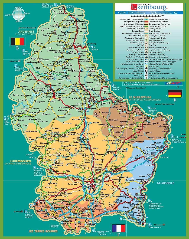 largedetailedtouristmapofluxembourgjpg 11921507 Maps