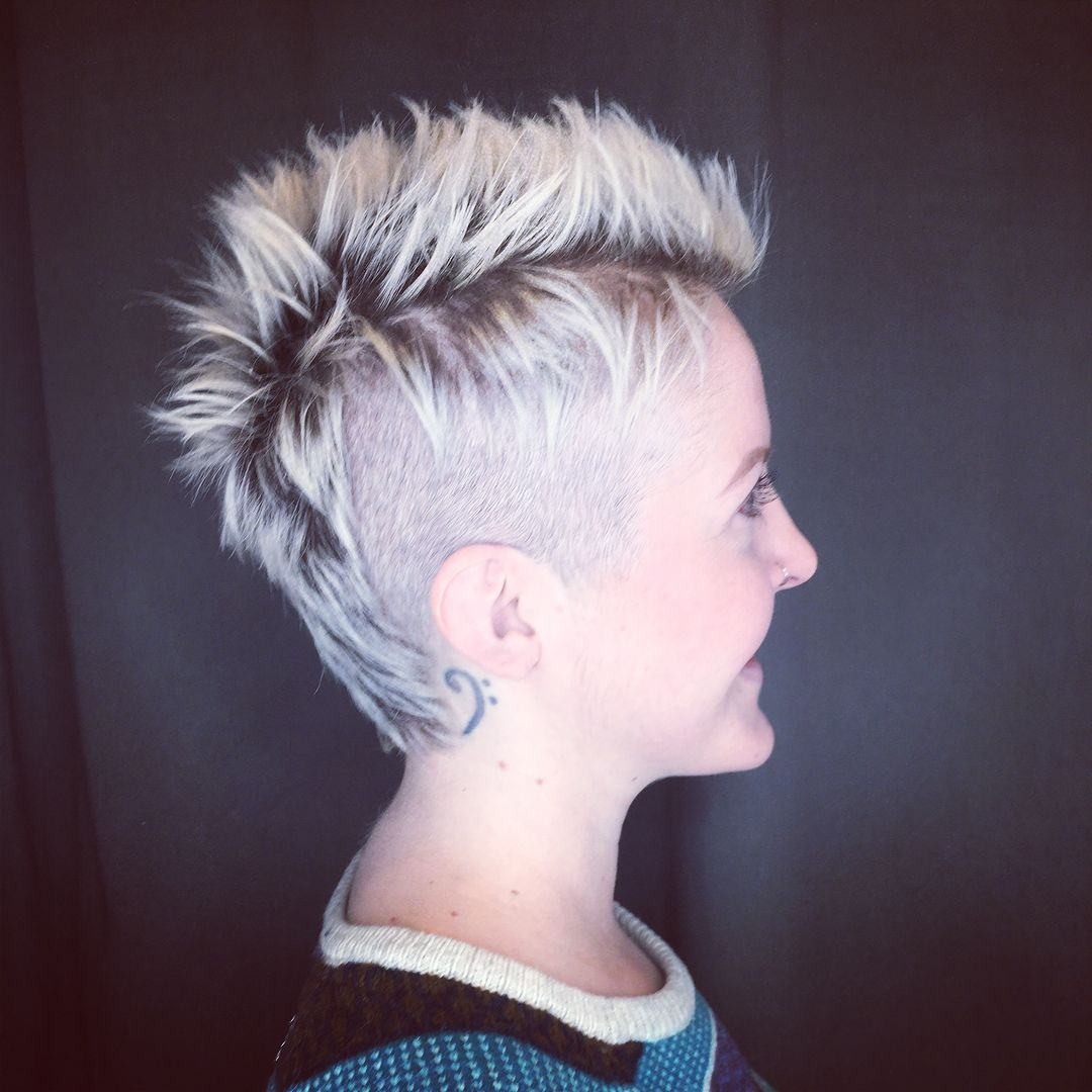 Awesome Punk Rock Hair Mohawks Are Cool Elsewherehairdenver Hairbylexi Modernmullet Rocknrollhair Rock Hairstyles Punk Rock Hair Modern Mullet