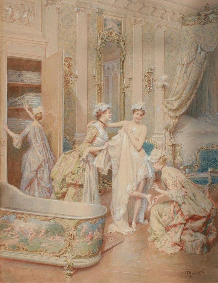 U201cLa Sortie Du #bainu201d Ludovico Marchetti (1853 1909) #art. Bathroom ...