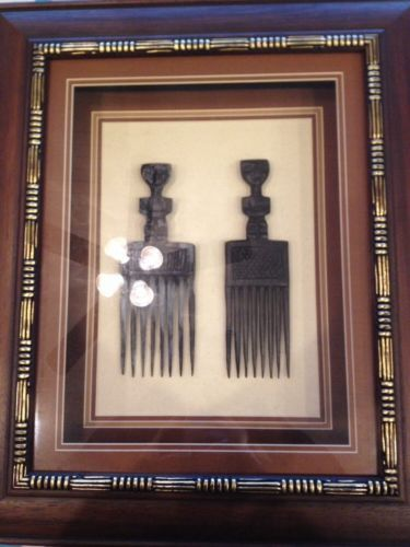 Boocoo Designs Double Figure Comb Shadow Box Frame