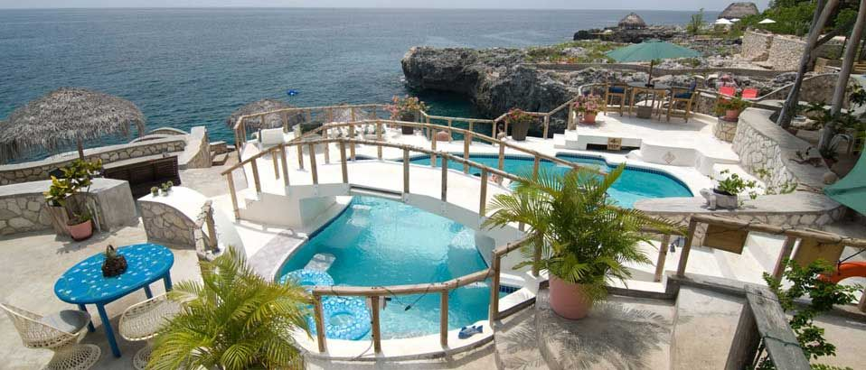 Jamaican Hotels Catcha Falling Star Resort Hotel Negril Jamaica Caribbean Cliff Cottages