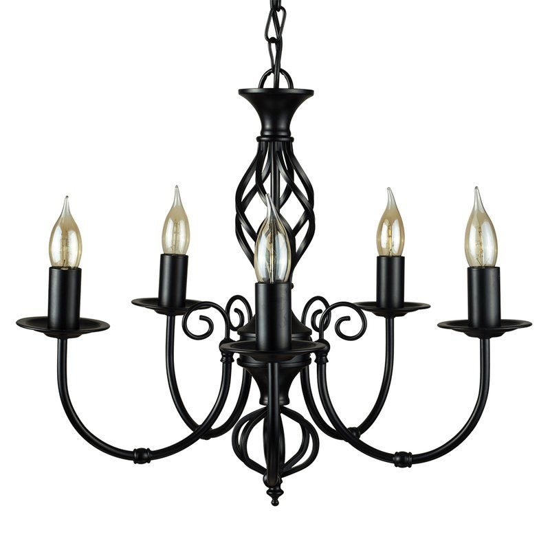 Classic Black /& Copper Barley Twist Metal /& Glass Ceiling Light Pendant Fitting