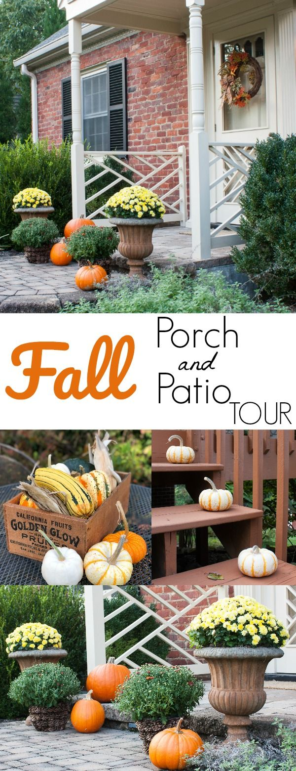 Porches Decorated for Fall #falldecorideasfortheporchoutdoorspaces