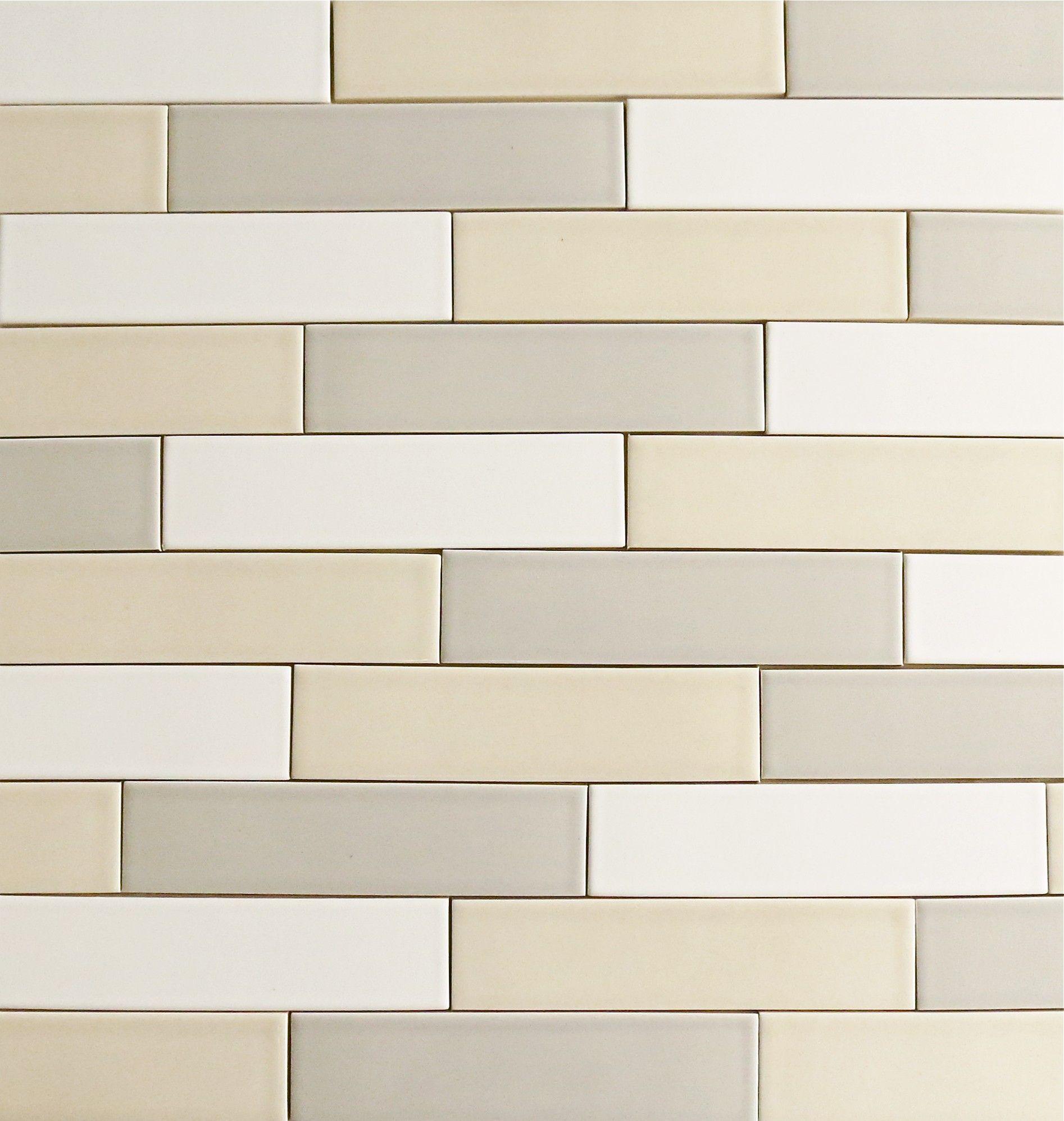 Clayhaus Vellum Cream Color 2x8 Subway Ceramic Tile