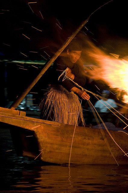Cormorant Fishing in Arashiyama - July 1 through September 15. Japan