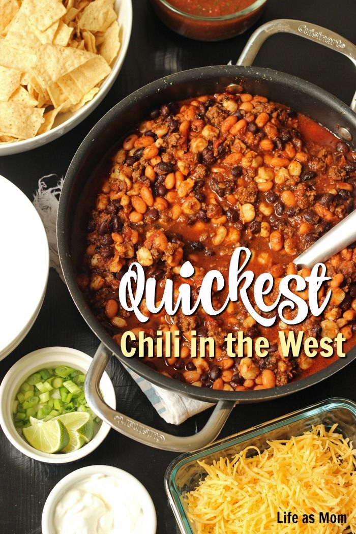 Quickest Chili In The West Slow Cooker Or Stovetop Good Cheap Eats Recipe Quick Chili Make Ahead Meals Hot Meals