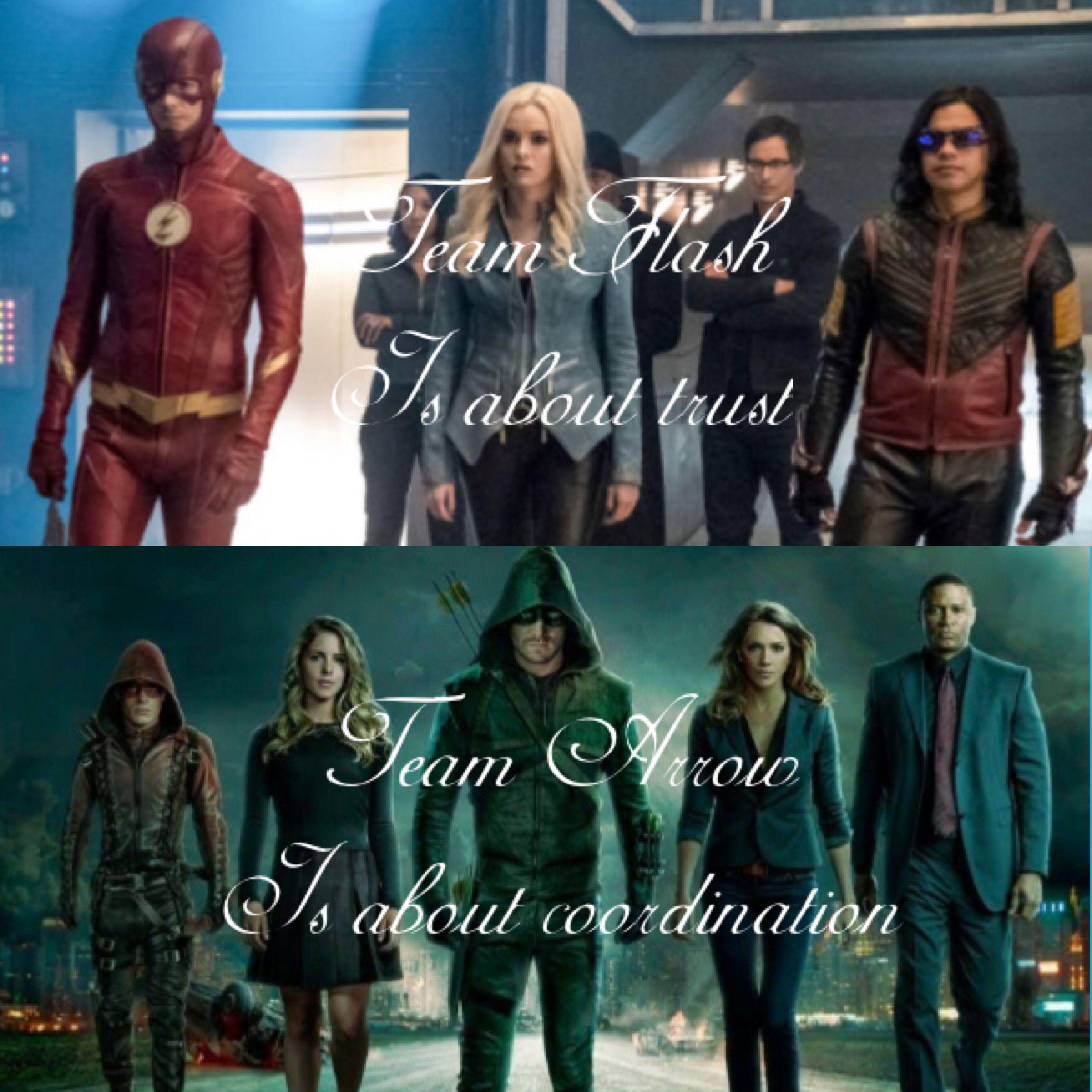 Team Flash Or Team Arrow Arrow Flash Oliverqueen Barryallen