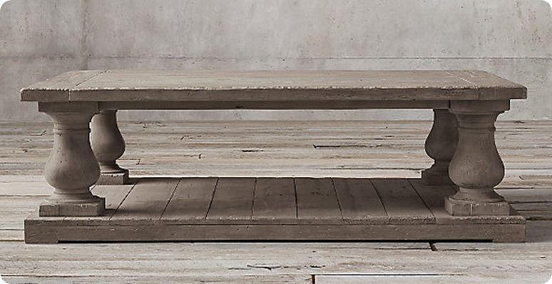 Balustrade Coffee Table Coffee Table Restoration Hardware
