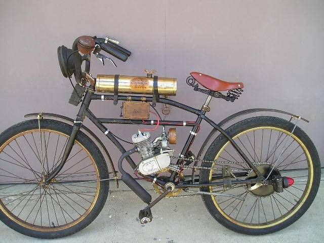 Moped Photo Gallery 1915 Style Clip On Motor Kit Bicycle With