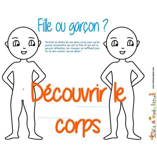 Corps humain activit s pour mieux le conna tre et coloriages d 39 organes t te modeler - Coloriage corps humain maternelle ...