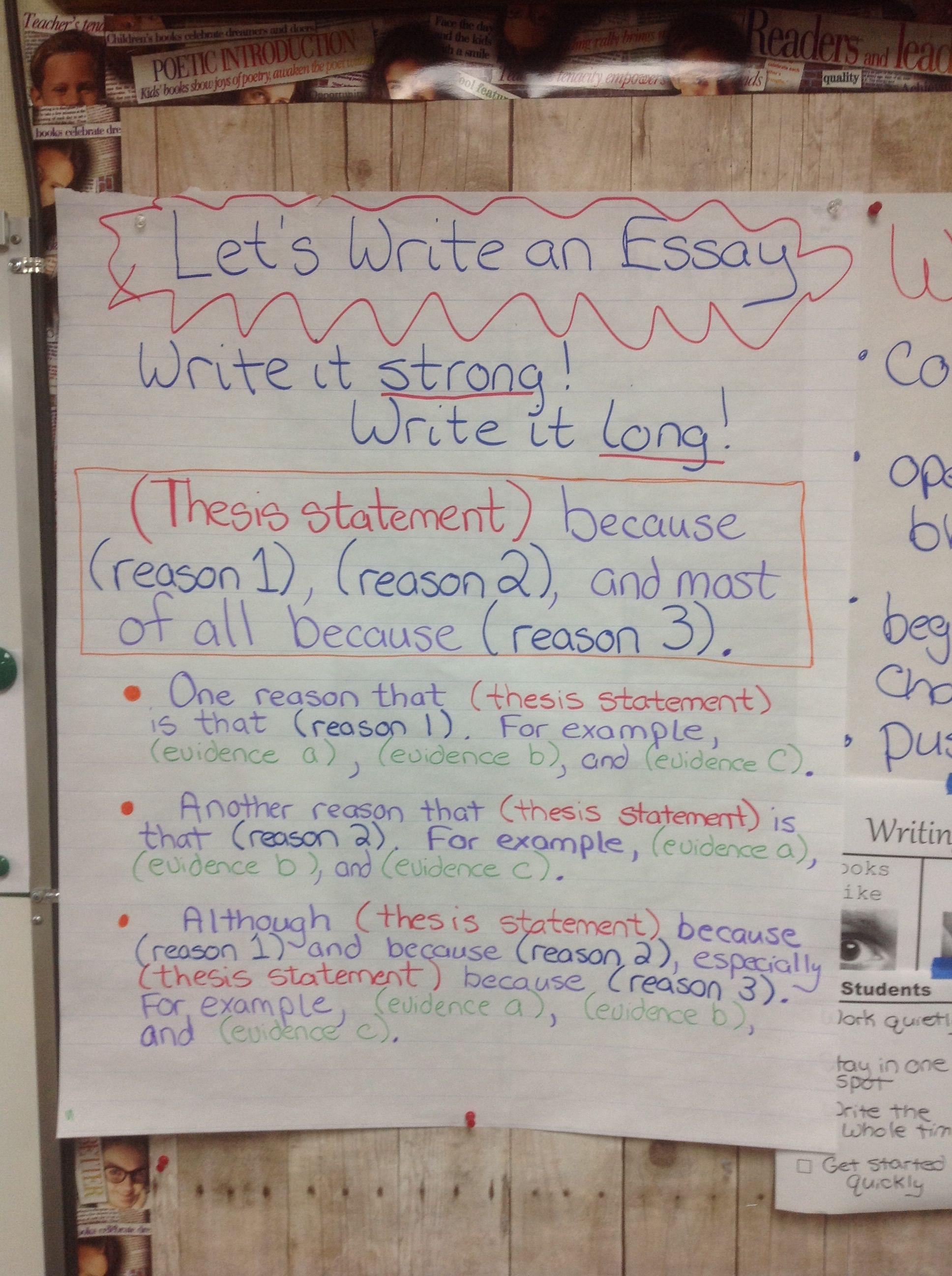 Let   write an essay anchor chart structured outline for opinion writing also rh pinterest