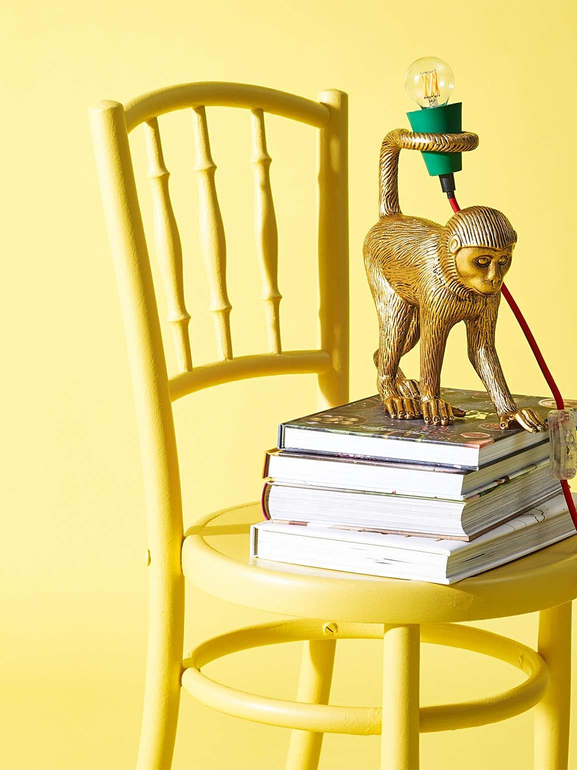 Mika Monkey Gold Desk & Table Lamp | Gold table lamp, Gold