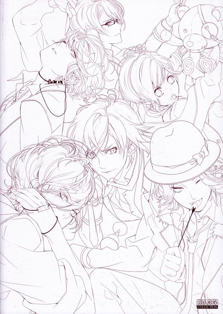 Artbuk Diabolik Lovers Haunted Dark Bridal 141 Fotografiya Diabolik Lovers Diabolik Coloring Pages