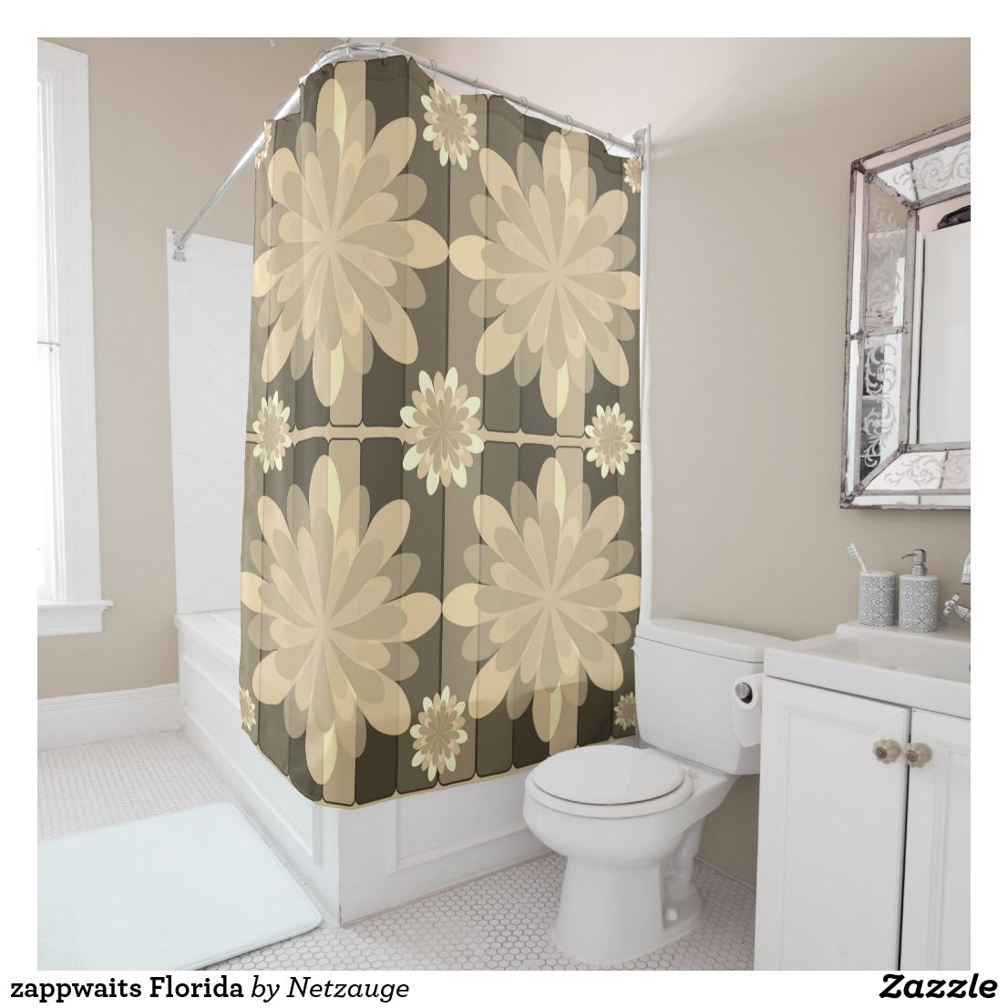 Zappwaits Florida Shower Curtain