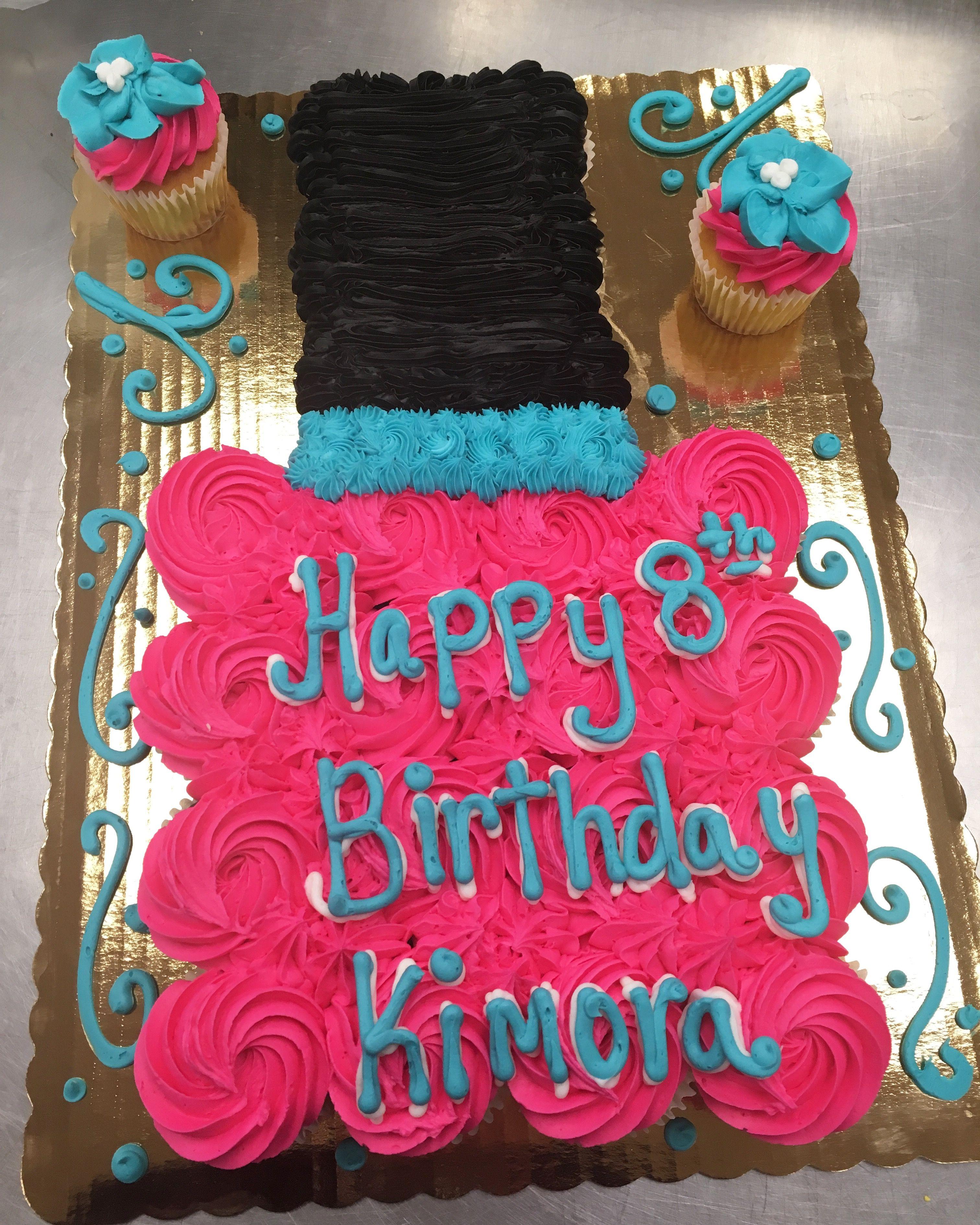 Birthday Fingernail Cake: Nail Polish Cupcake Cake