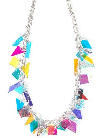 Geometric Dichroic Necklace, Carlyn Galerie