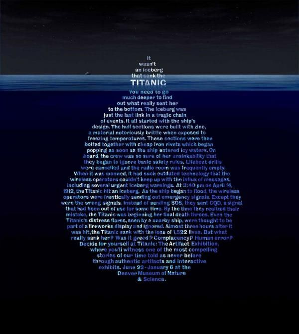 Denver Museum Of Nature Science Titanic Exhibit Poster With