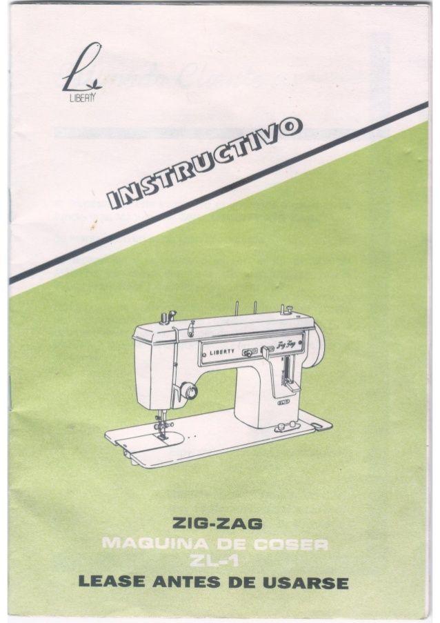Instructivo Manual Máquina de Coser Liberty Zig Zag