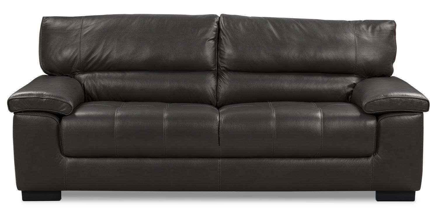 Chateau D Ax 100 Genuine Leather Sofa Charcoal Genuine Leather Sofa Leather Sofa Genuine Leather Couches