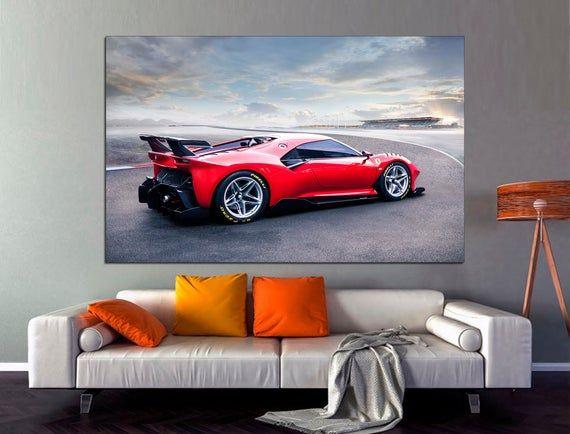 Ferrari P80 C Wall Art Ferrari Canvas Print Red Ferrari Art Etsy In 2020 Car Wall Art Wall Art Wall Art Decor