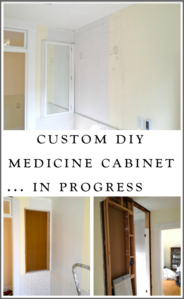 A Custom Medicine Cabinet Making Progress Victoria Elizabeth Barnes Diy Furniture Plans Diy Furniture Diy Bathroom