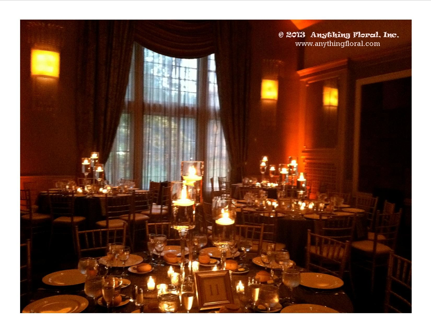 Wedding Centerpieces Candles Floating Maplewood Country Club Nj Www Anythingfl