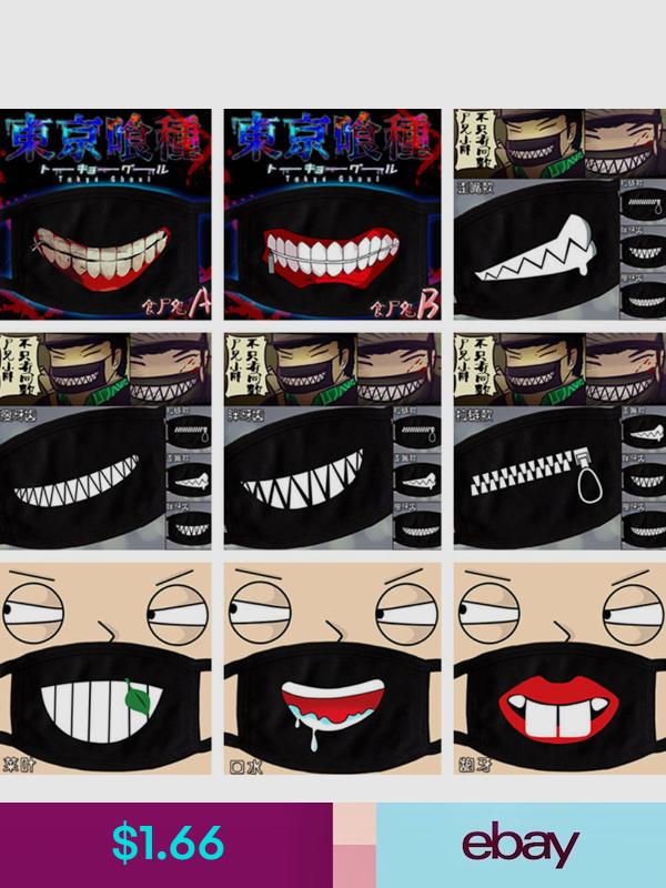 Surgical Masks Ebay Clothing Shoes Accessories Fashion Face Mask Masked Man Smiley Emoji
