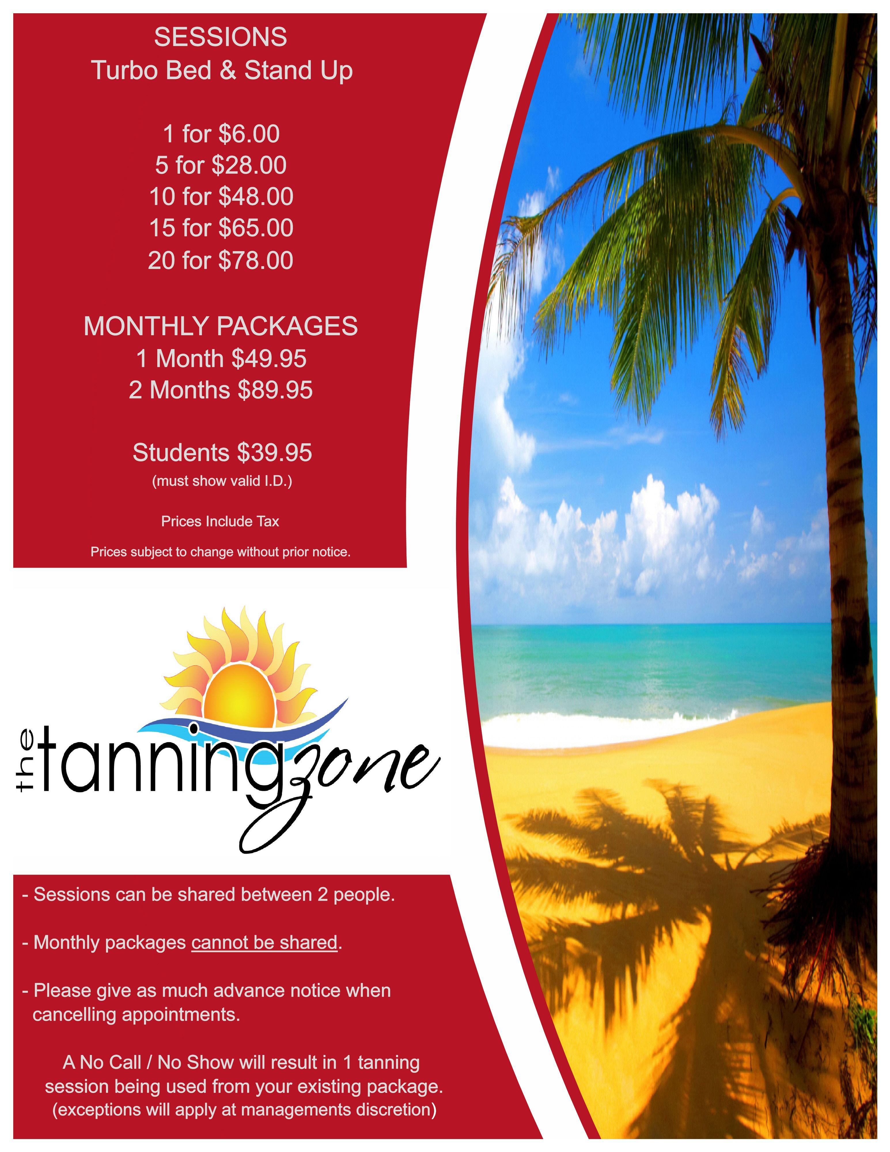 Price List Tanning salon, Salon price list, Spray tanning