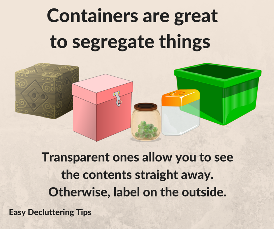 This is an obvious one. Instead of having a wild pile of unidentifiable objects taking up your space on the counter, #drawer or #cupboard, sort them into labeled #containers that can be stacked neatly to save #space. #declutter #decluttering #organization #organizing #organize #labels