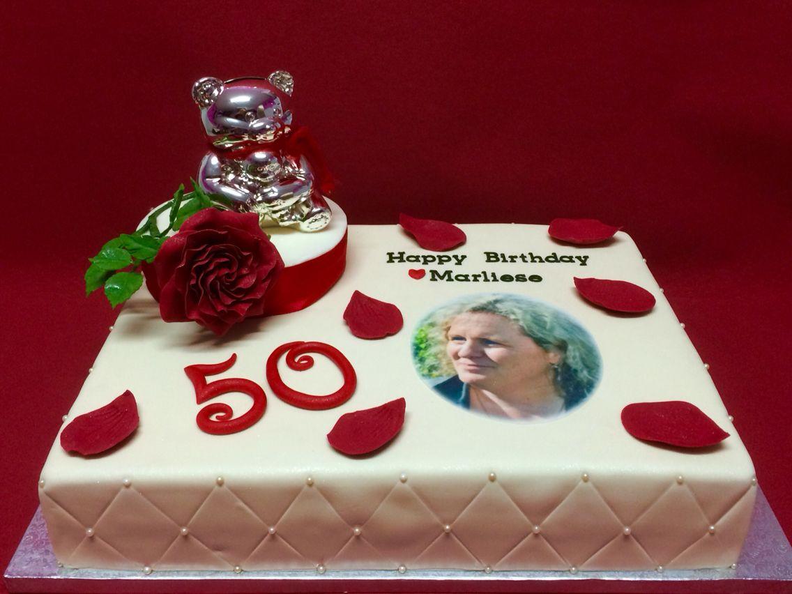 50 Geburtstagstorte Mit Rosenblume Happy Birthday 50th Cake 50