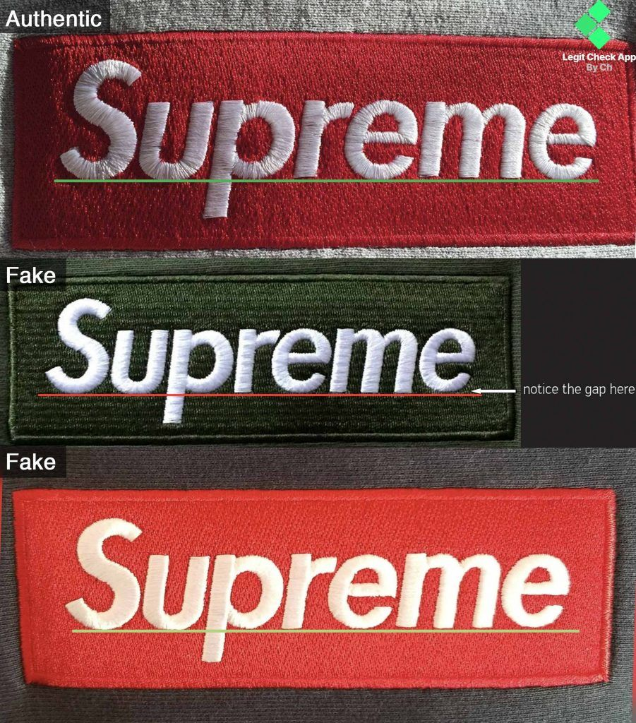 "Lettering floating ""e"" Lettering, Supreme box logo"