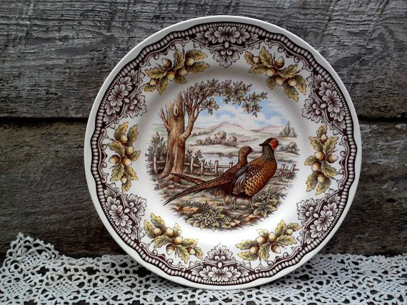 50% off Woodland Pheasant Turkey Dinner Plate \ Victorian English Pottery Series\  Edward Challinor Thanksgiving 11\  See Details Below : pheasant dinnerware - pezcame.com