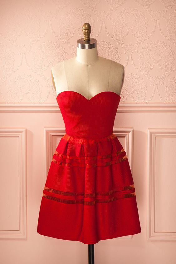 Red Prom Dress,Sweetheart Prom Dress,Fashion Homecoming Dress,Sexy Party