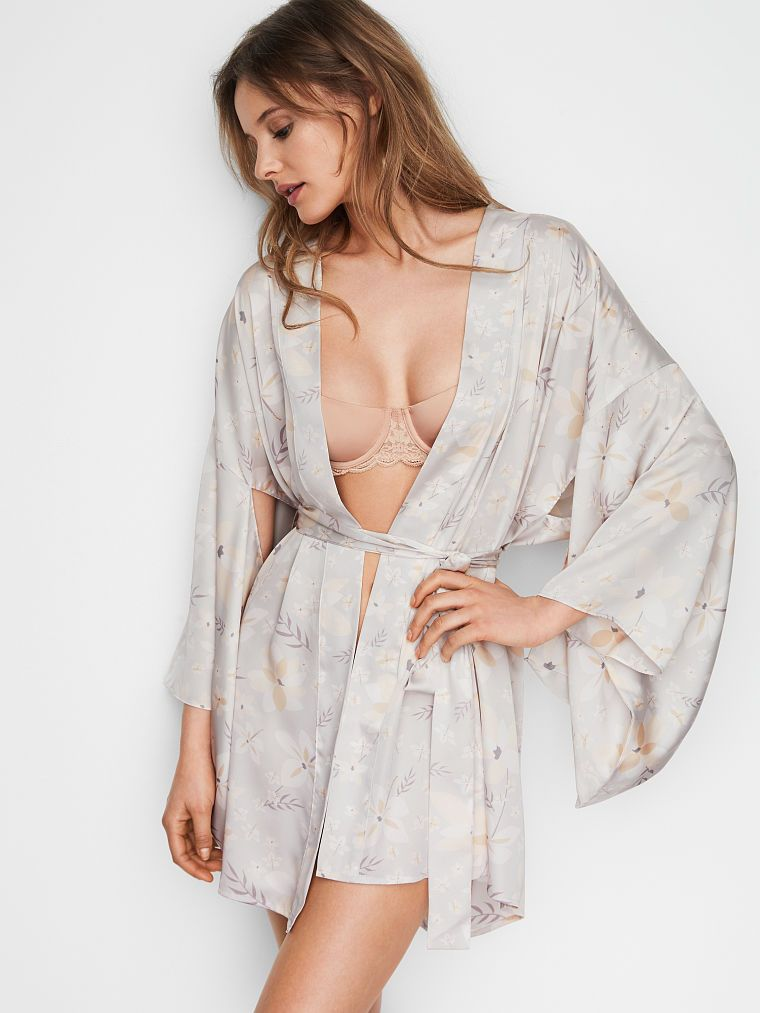 Short Floral Satin Kimono - Dream Angels - Victoria s Secret  62 ... c6cb9c309